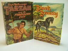 2 Whitman Hardback Books Tarzan Forbidden City 1954 Black Beauty 1955 Vintage