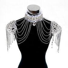 JL03 Bridal Shoulder Necklace Body Chain Jewelry Set Rhinestone wedding dress