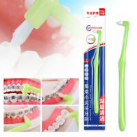 2pcs Orthodontic Dental Toothbrush Soft Small Head Floss Interdental Cleaners