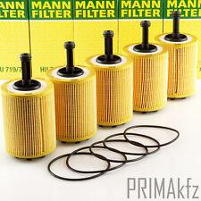 5x Mann HU719/7X Oil Filter Skoda Fabia I Octavia I Roomster Superb I Yeti Tdi