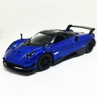 "New Kinsmart 5"" Pagani Huayra BC Diecast Model Toy Sports Super Car 1:38- Blue"