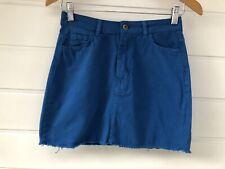 NWT BOOHOO Cobalt Denim Skirt - Size 10