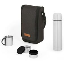 VonShef Ash Picnic Flask Bag, Insulated Picnic Thermal Bag, 2 Person Set