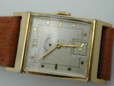 VINTAGE 1940S 21 JEWEL ELGIN TANC WRIST WATCH IS 14K GF, NEW BAND CRYSTAL RUNS