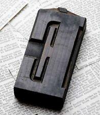 "Letter: É superb wood type 4.92"" woodtype font letterpress printing block ABC"
