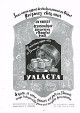 PUBLICITE ADVERTISING 024   1953   YALACTA      yaourtière
