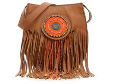 Sam Edelman Karina Leather Fringe Crossbody Hobo Shoulder Bag Saddle Nwt $248