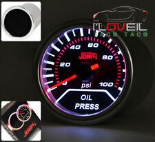 "Universal New 2"" Oil Pressure Gauge Engine Smoke Tint Lens Jdm Led Glow Monitor"