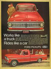 1970 Ford Ranger XLT Pickup red truck photo vintage print Ad