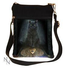 BLACK CAT OUIJA BOARD HIS MASTERS VOICE SMALL NEMESIS SHOULDER BAG LADIES NEW