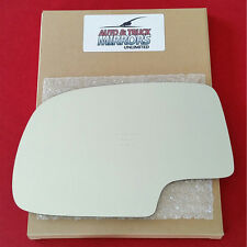 New Mirror Glass + Adhesive Chevy Gmc Truck Suv Driver Left Side Dim Dimming