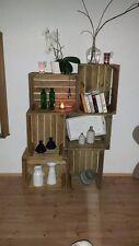 8er-Set gebrauchte Apfelkisten in Natur/ Holzkiste/ Obstkiste/ Weinkiste