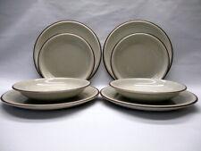Thomas Rosenthal Geschirr 8 Teller Scandic Shadow beige braun 4 Speise 4 Suppen-