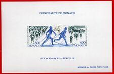MONACO bloc spéciaux n° 17a Jeux Olympiques ALBERTVILLE , TB ** et R! 270€