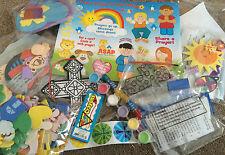 Caja de artesanía Religiosa Para Niños (arte rasguño, Espuma, Pegatinas, abalorios, etc.)