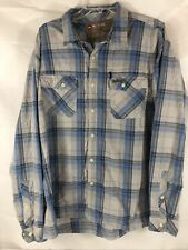 Simms Guide Blue Gray Plaid Fishing Shirt XXL 2XL