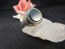Silberring Männerring Siegelring Ring Sterlingsilber 925 Handarbeit Onyx Gr64