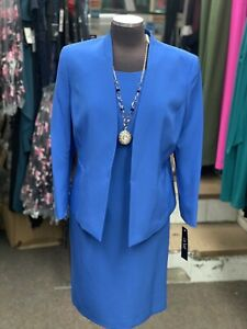 LESUIT DRESS  SUIT/NEW WITH TAG/SIZE 18 /RETAIL$240/BLUE  /LINED/