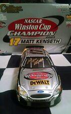 2003 Matt Kenseth GOLD Autographed #17 Dewalt Winston Cup Champion 1/24
