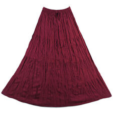 Bohemian Tier Long Skirt Boho Hippy Hippie Gypsy Red XS-XL sk167r