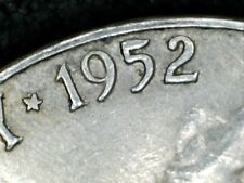1952d  Jefferson Nickel  with Repunch Date