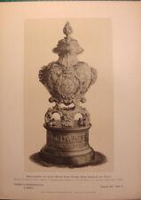 antique print urn Ludwig II König Bayern 1886 stich Bestattungsurne Graburne