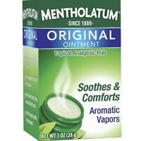 Mentholatum Original Ointment Soothing Relief, Aromatic Vapors - 1 oz (3 pack)