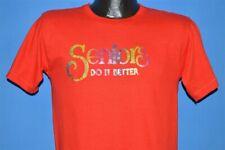 vintage 70s Seniors Do It Better School Glitter Iron On Rainbow t-shirt Small S