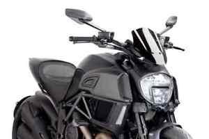 Puig New Generation Adjustable Sport Windscreen- 14-18 Ducati Diavel (7592)