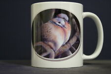 UNIQUE 350ml MUG WITH OVAL IMAGE OF ORIGINAL PAINTING: BABY IT'S COLD OUTSIDE