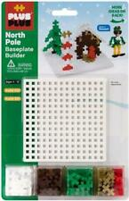PLUS PLUS - Construction Building Toy - Baseplate Builder - Holiday North Pole