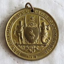 1915 St Anne's School Liverpool Education Committee 44 mm MEDAGLIA