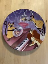Bradford Exchange Lady and the Tramp Si Am Double Siamese Trouble Plate