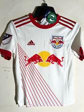 Adidas Youth MLS Jersey NY Red Bulls Team White sz S