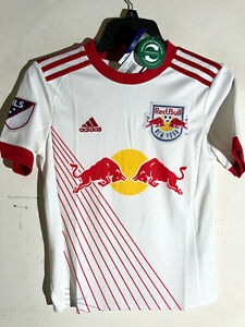 Adidas Youth MLS Jersey NY Red Bulls Team White sz M