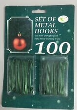 CHRISTMAS Pack 100 (6.5cm) Tree Hooks Bauble Hanger GREEN