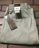 Perry Ellis Classic Fit Crimini Flat Front Dress Pants Men's Size 30 x 32