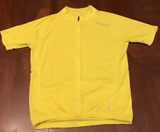 BELLWETHER Cycling Jersey Men's Large SS Shirt Yellow Cadence Bicycle Road 9181