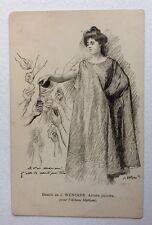 CPA. Album MARIANI. Illustrateur WENCKER. Jeune Femme servant du Vin. Santé.