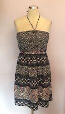 Plus Size Halterneck Floral Short/Mini Dresses for Women