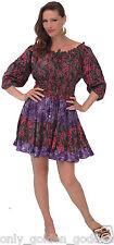 pink green plum short dress 3/4 sleeve OS M L XL 1X 2X CHIC BATIK zr443