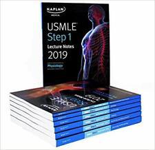 USMLE Step 1 Lecture Notes 2019: 7-Book Set (Kaplan Test Prep) New