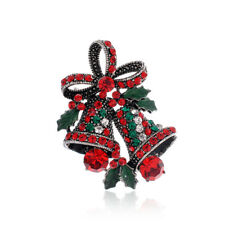 Vintage Style Jingle Bells Christmas Theme Women Brooch Pin Gift BR446