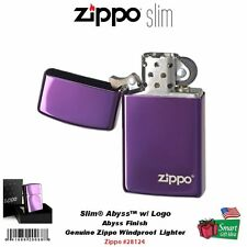 Zippo Slim Abyss with Logo Lighter, High Polish, Deep Purple, Windproof #28124ZL