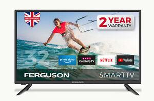 "FERGUSON 32"" INCH SMART LED TV FREEVIEW HD, WIFI, 2 x HDMi, USB,1080i BRAND NEW"