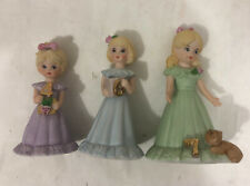 Lot of 3 Growing Up Birthday Girls - Age 4, 6 & 7 Golden Hair, Enesco