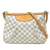 Authentic Louis Vuitton Damier Azur Shoulder Crossbody Bag Purse Siracusa PM LV