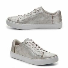 967c8652c16 NEW WOMEN S TOM LENOX SILVER METALLIC LEATHER CRACKLE SIZE 11