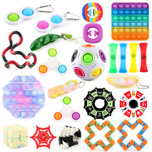 Fidget Toys Pop Push Bubble Anxiety Relief Stress Kit Set Pack Sensory Kid Adult