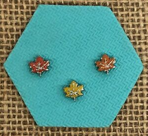 Authentic Origami Owl Fall Leaf Charm Red, Yellow or Orange